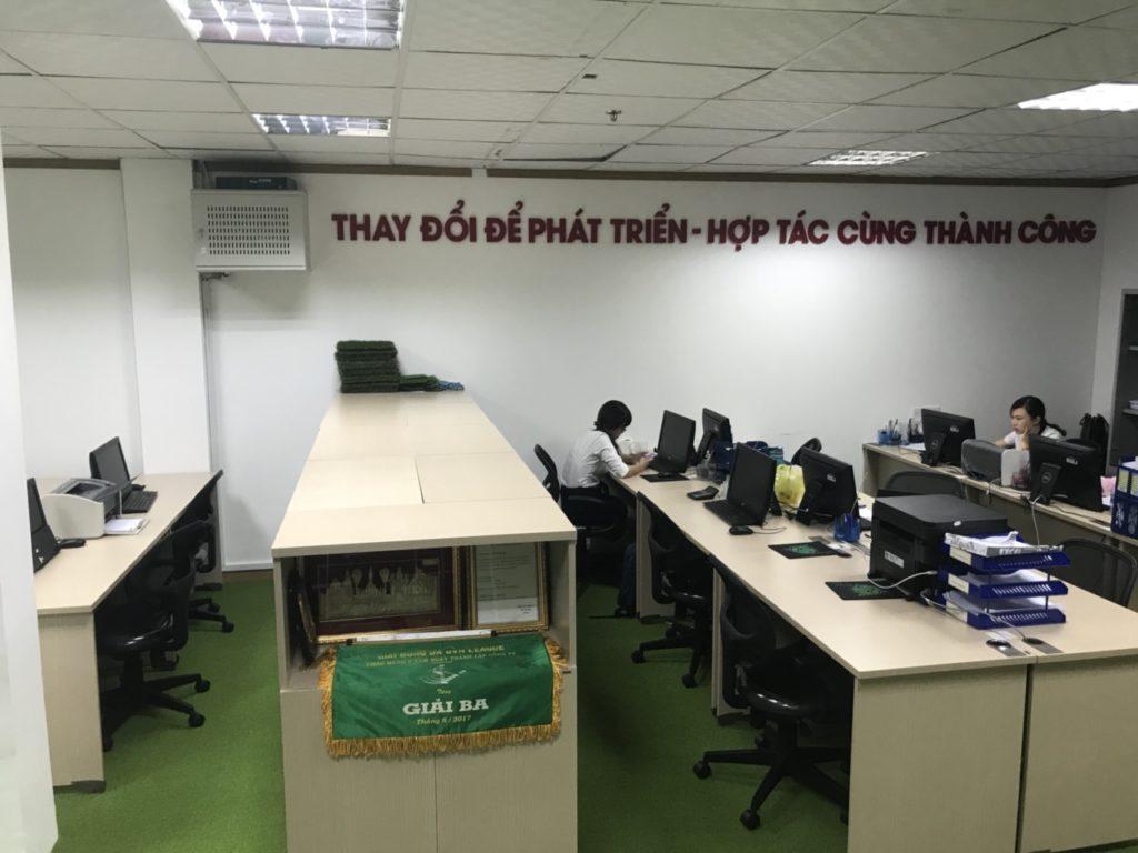 Một số hình ảnh của dự án trải văn phòng Chi nhánhHồ Chí Minh- Công ty TNHH DVN Việt Nam 4