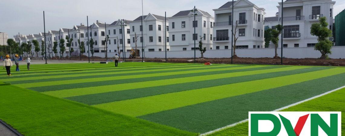 Cấp cỏ nhân tạo cho dự án sân bóng tại Long Biên, Hà Nội