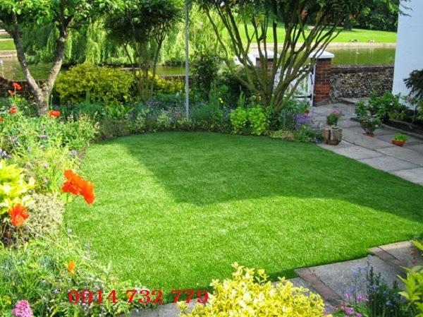 3. Ứng dụng cỏ nhân tạo trong trang trí sân vườn 1