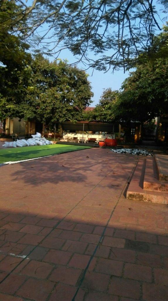 Một số hình ảnh của dự án sân bóng cỏ nhân tạo tại Trường tiểu học Phượng Sơn 2, Lục Ngạn, Bắc Giang 1