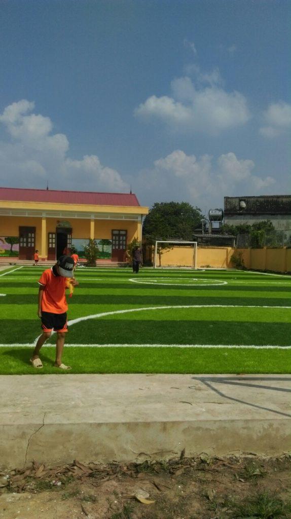Một số hình ảnh của dự án sân bóng cỏ nhân tạo tại Trường tiểu học Phượng Sơn 2, Lục Ngạn, Bắc Giang 5