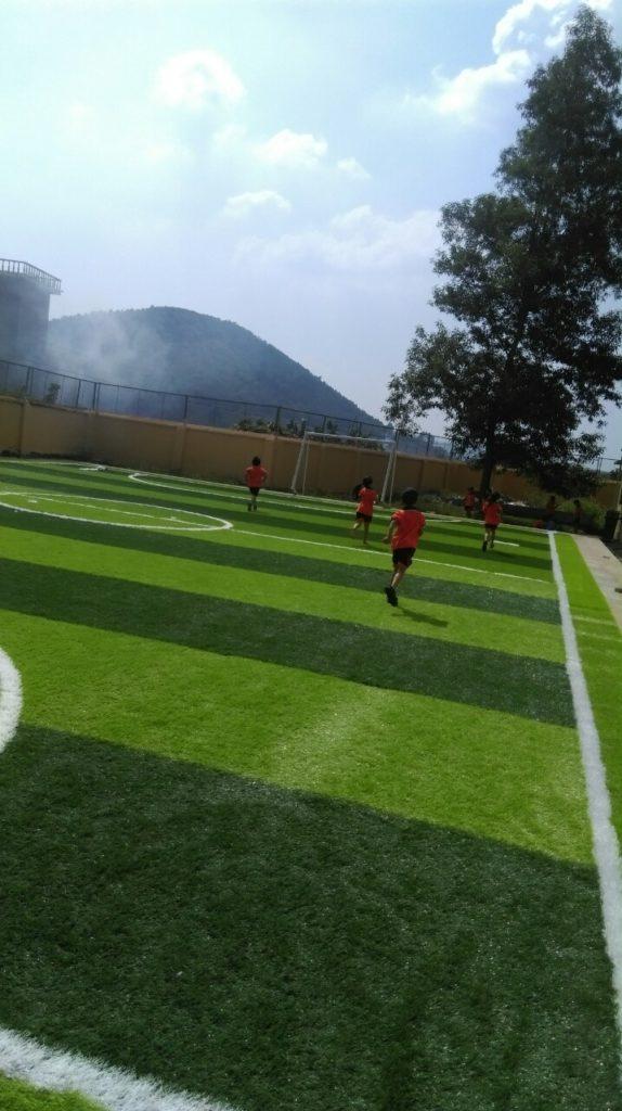 Một số hình ảnh của dự án sân bóng cỏ nhân tạo tại Trường tiểu học Phượng Sơn 2, Lục Ngạn, Bắc Giang 8