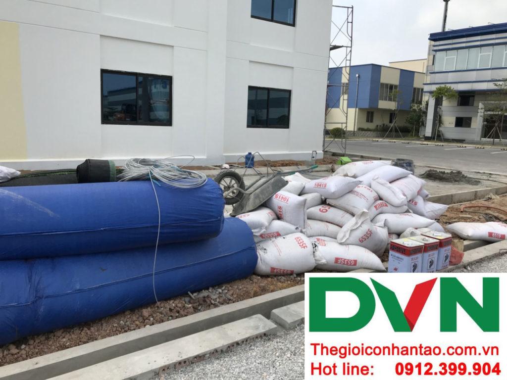 Một số hình ảnh của dự án sân bóng cỏ nhân tạo tạiCông Ty TNHH PRIME CONSTRUCTION, Thái Nguyên 3