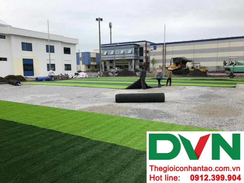Một số hình ảnh của dự án sân bóng cỏ nhân tạo tạiCông Ty TNHH PRIME CONSTRUCTION, Thái Nguyên 1