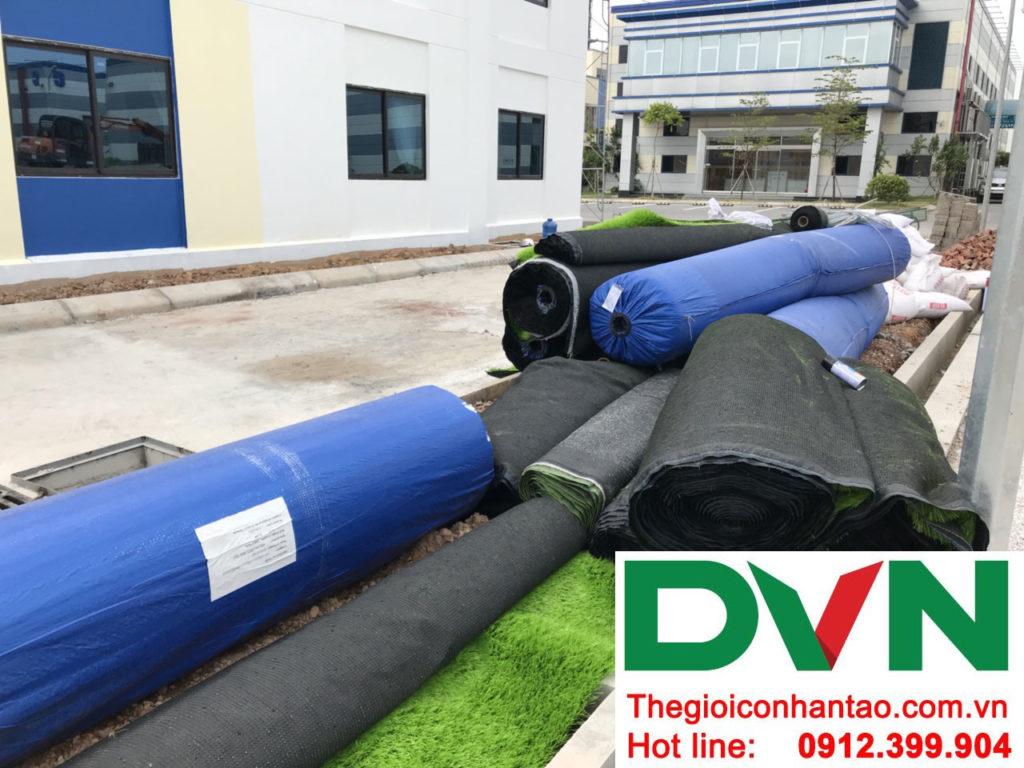 Một số hình ảnh của dự án sân bóng cỏ nhân tạo tạiCông Ty TNHH PRIME CONSTRUCTION, Thái Nguyên 2
