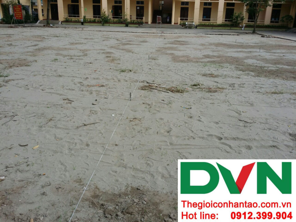 Một số hình ảnh của dự án sân bóng cỏ nhân tạo tại Lữ đoàn 21, Từ Liêm, Hà Nội 8