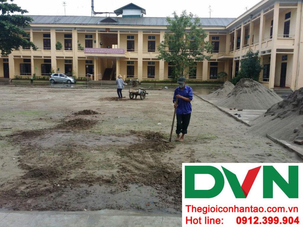 Một số hình ảnh của dự án sân bóng cỏ nhân tạo tại Lữ đoàn 21, Từ Liêm, Hà Nội 5