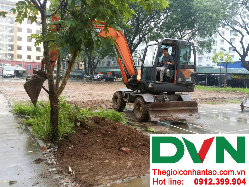 Một số hình ảnh của dự án sân bóng cỏ nhân tạo tại Lữ đoàn 21, Từ Liêm, Hà Nội 3