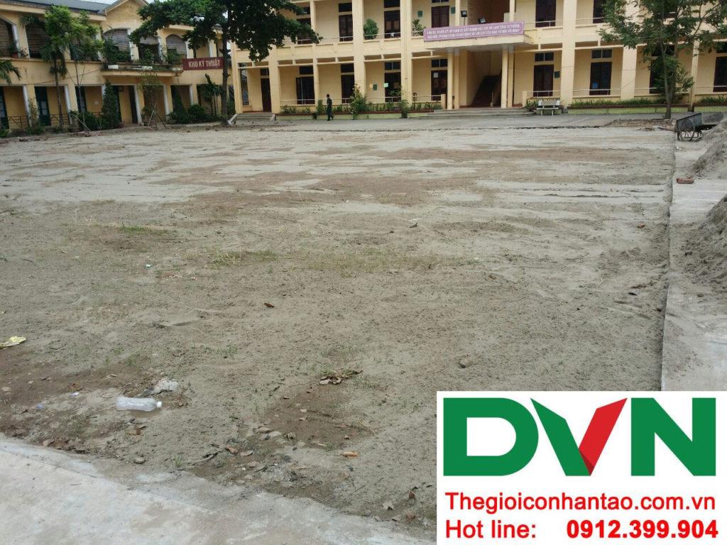 Một số hình ảnh của dự án sân bóng cỏ nhân tạo tại Lữ đoàn 21, Từ Liêm, Hà Nội 6