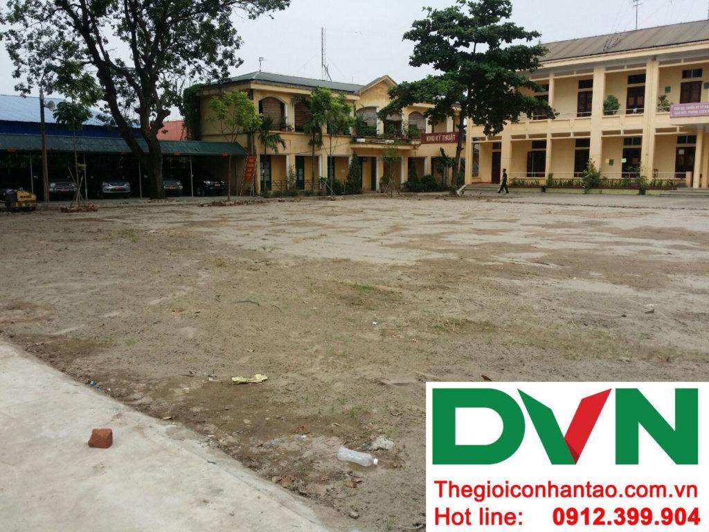 Một số hình ảnh của dự án sân bóng cỏ nhân tạo tại Lữ đoàn 21, Từ Liêm, Hà Nội 7