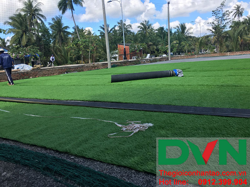 Một số hình ảnh dự án sân bóng tại Phước Mỹ Trung - Huyện Mỏ Cày Bắc - Bến Tre 2