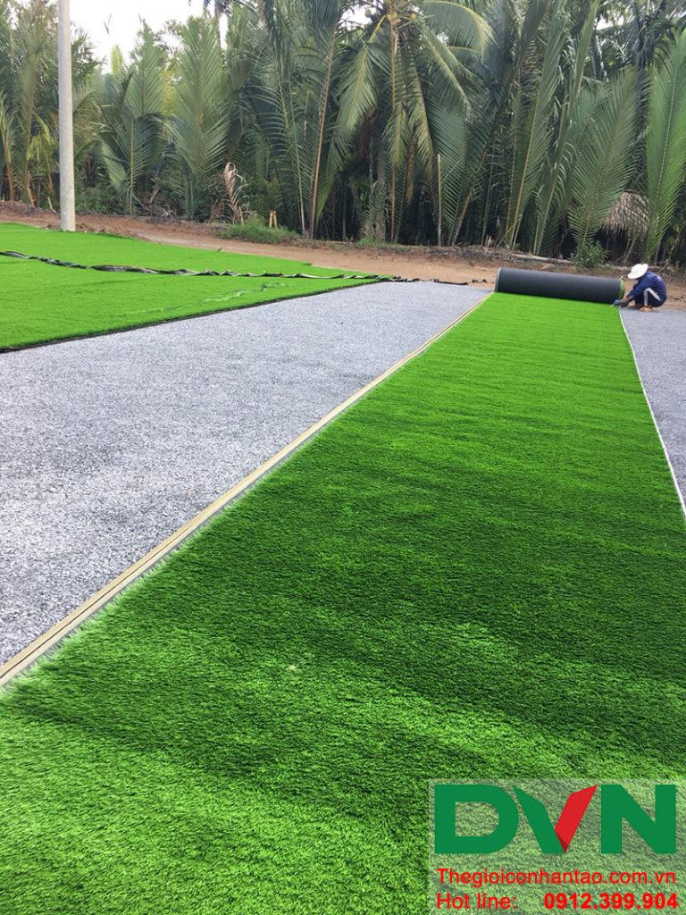 Một số hình ảnh dự án sân bóng tại Phước Mỹ Trung - Huyện Mỏ Cày Bắc - Bến Tre 1