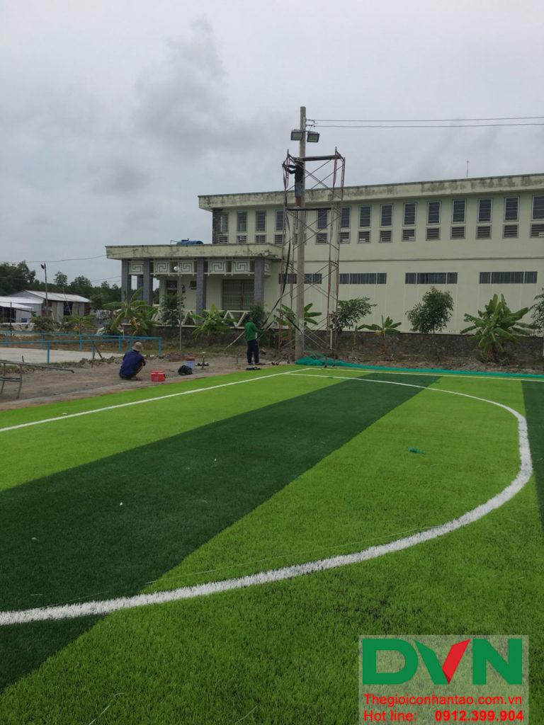 Một số hình ảnh của dự án sân bóng đá cỏ nhân tạo Ấp Kinh Đào, xã Đất Mũi, huyện Ngọc Hiển, tỉnh Cà M 7