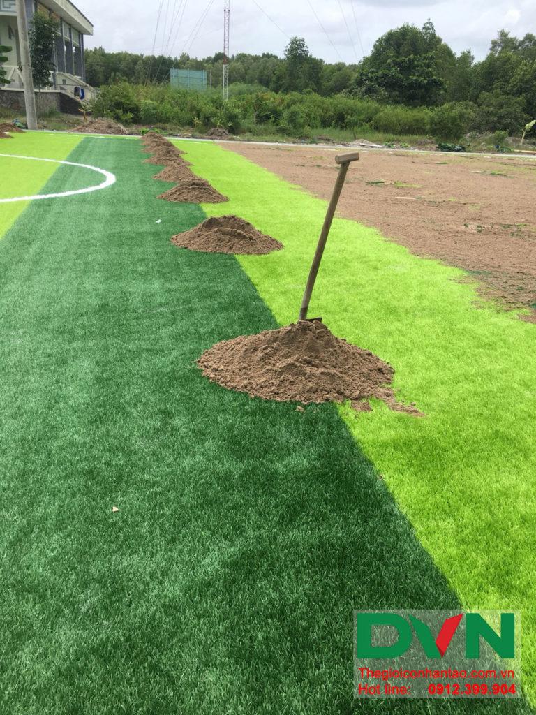 Một số hình ảnh của dự án sân bóng đá cỏ nhân tạo Ấp Kinh Đào, xã Đất Mũi, huyện Ngọc Hiển, tỉnh Cà M 9