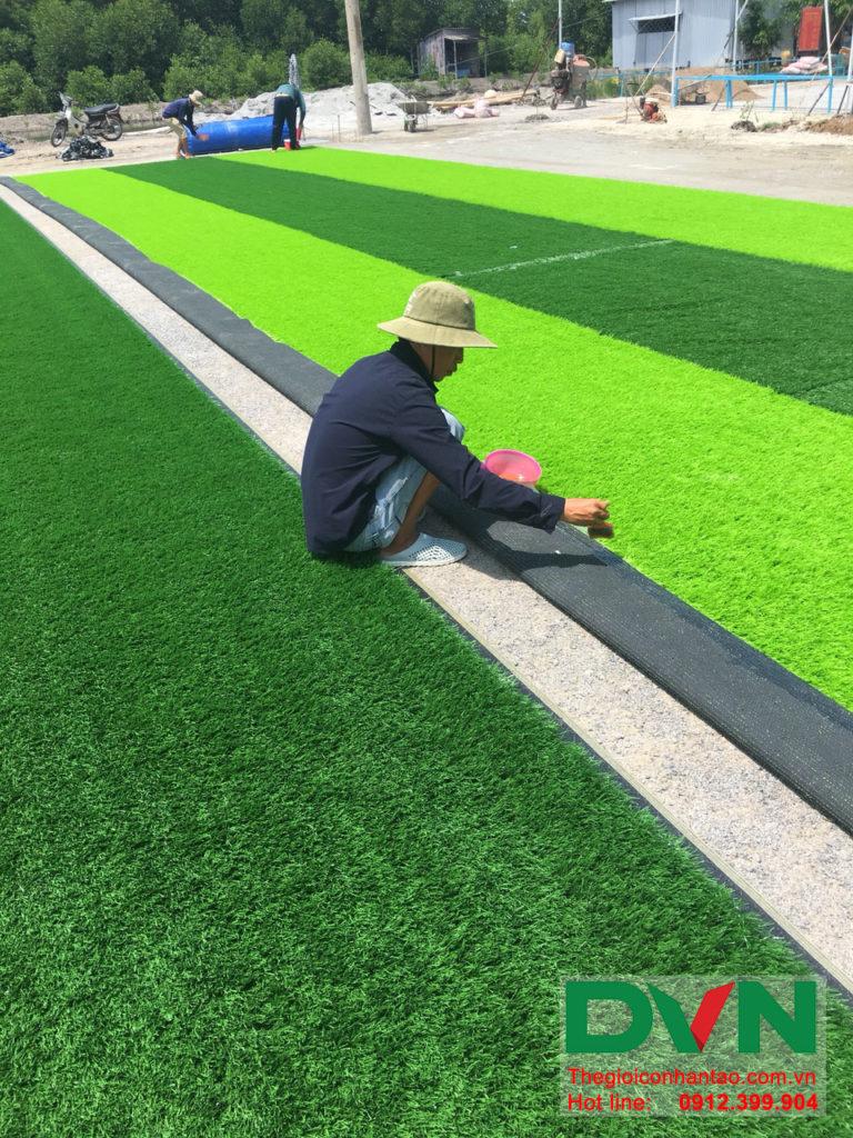 Một số hình ảnh của dự án sân bóng đá cỏ nhân tạo Ấp Kinh Đào, xã Đất Mũi, huyện Ngọc Hiển, tỉnh Cà M 5