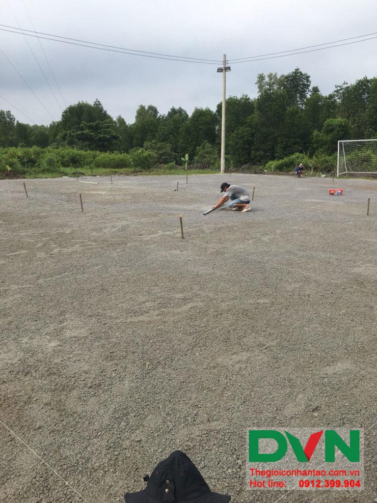Một số hình ảnh của dự án sân bóng đá cỏ nhân tạo Ấp Kinh Đào, xã Đất Mũi, huyện Ngọc Hiển, tỉnh Cà M 2