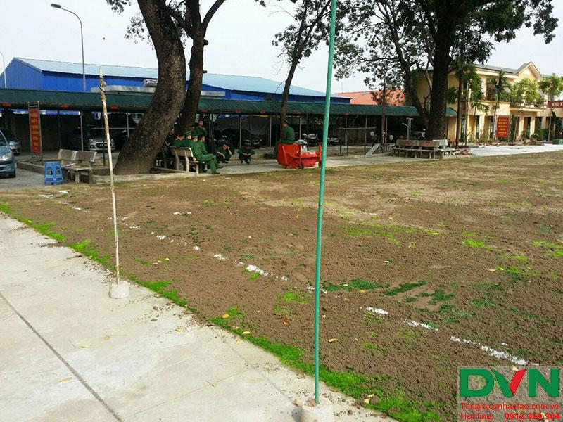 Một số hình ảnh của dự án sân bóng cỏ nhân tạo tại Lữ đoàn 21, Từ Liêm, Hà Nội 12