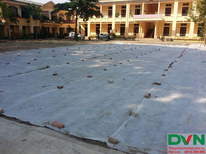 Một số hình ảnh của dự án sân bóng cỏ nhân tạo tại Lữ đoàn 21, Từ Liêm, Hà Nội 9