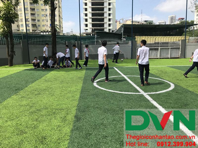 Một số hình ảnh của dự án sân bóng cỏ nhân tạo tại Trường THCS Cầu Giấy - Hà Nội 6