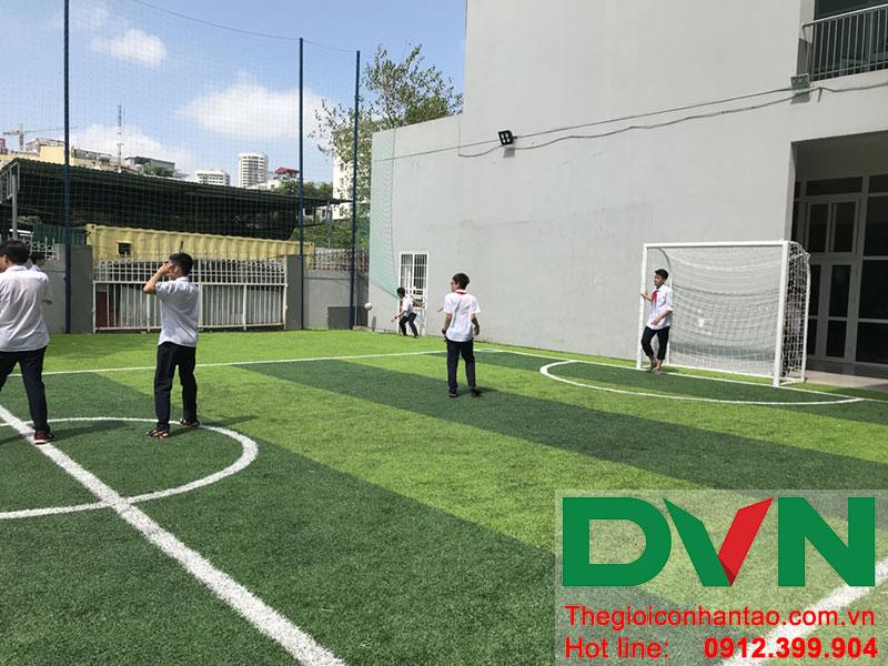Một số hình ảnh của dự án sân bóng cỏ nhân tạo tại Trường THCS Cầu Giấy - Hà Nội 7
