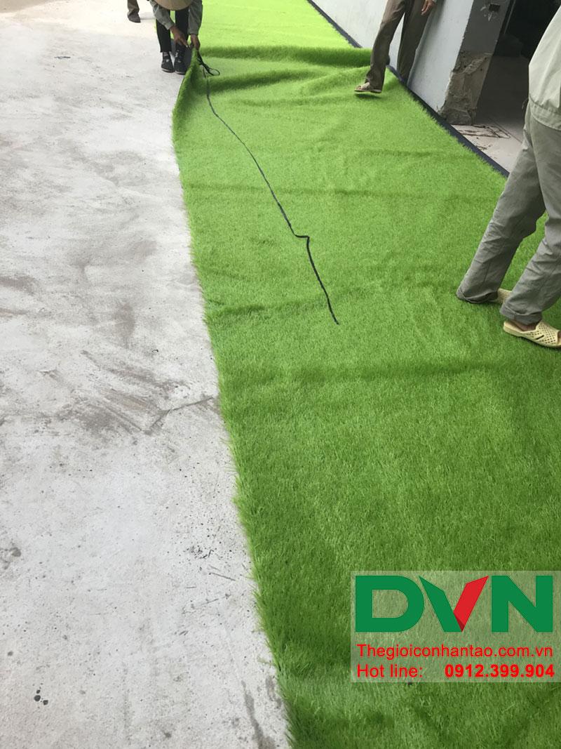 Một số hình ảnh của dự án sân bóng cỏ nhân tạo tại Trường THCS Cầu Giấy - Hà Nội 2