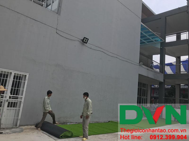 Một số hình ảnh của dự án sân bóng cỏ nhân tạo tại Trường THCS Cầu Giấy - Hà Nội 1