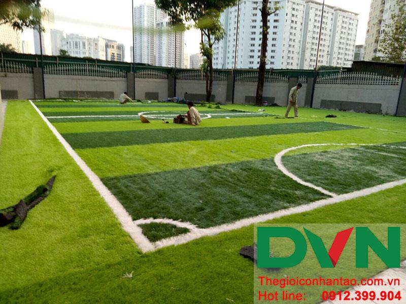 Một số hình ảnh của dự án sân bóng cỏ nhân tạo tại Trường THCS Cầu Giấy - Hà Nội 3