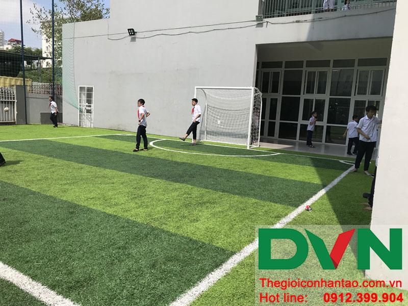 Một số hình ảnh của dự án sân bóng cỏ nhân tạo tại Trường THCS Cầu Giấy - Hà Nội 4