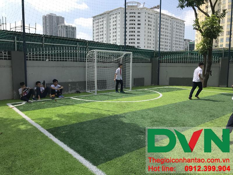 Một số hình ảnh của dự án sân bóng cỏ nhân tạo tại Trường THCS Cầu Giấy - Hà Nội 5