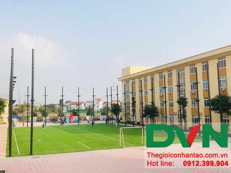 Một số hình ảnh của dự án sân bóng đá cỏ nhân tạo trường Liên Cấp Tuệ Đức – Thanh Hà – Hà Nội 7
