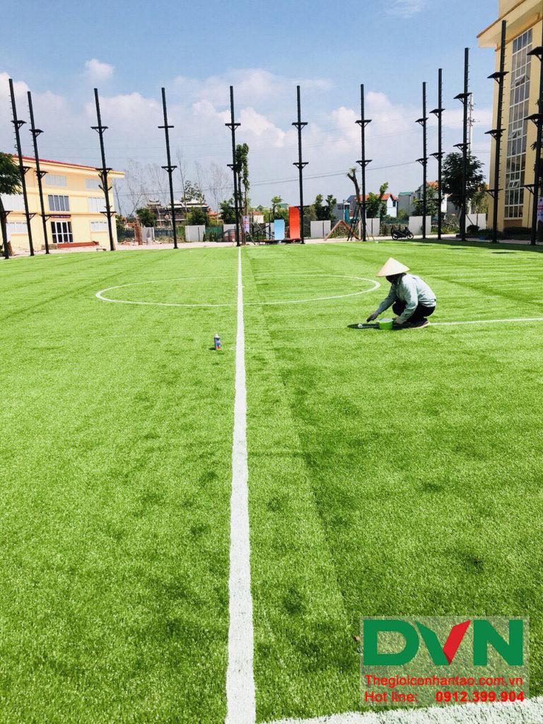 Một số hình ảnh của dự án sân bóng đá cỏ nhân tạo trường Liên Cấp Tuệ Đức – Thanh Hà – Hà Nội 5