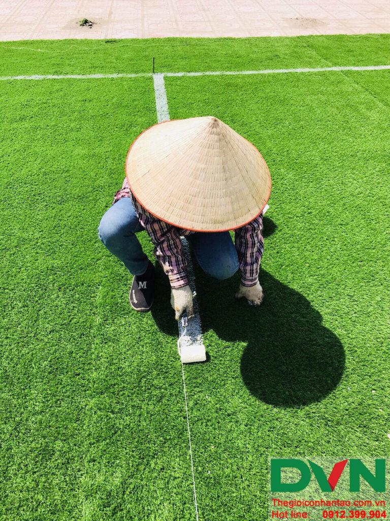 Một số hình ảnh của dự án sân bóng đá cỏ nhân tạo trường Liên Cấp Tuệ Đức – Thanh Hà – Hà Nội 6