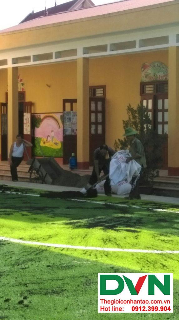 Một số hình ảnh của dự án sân bóng cỏ nhân tạo tại Trường tiểu học Phượng Sơn 2, Lục Ngạn, Bắc Giang 7