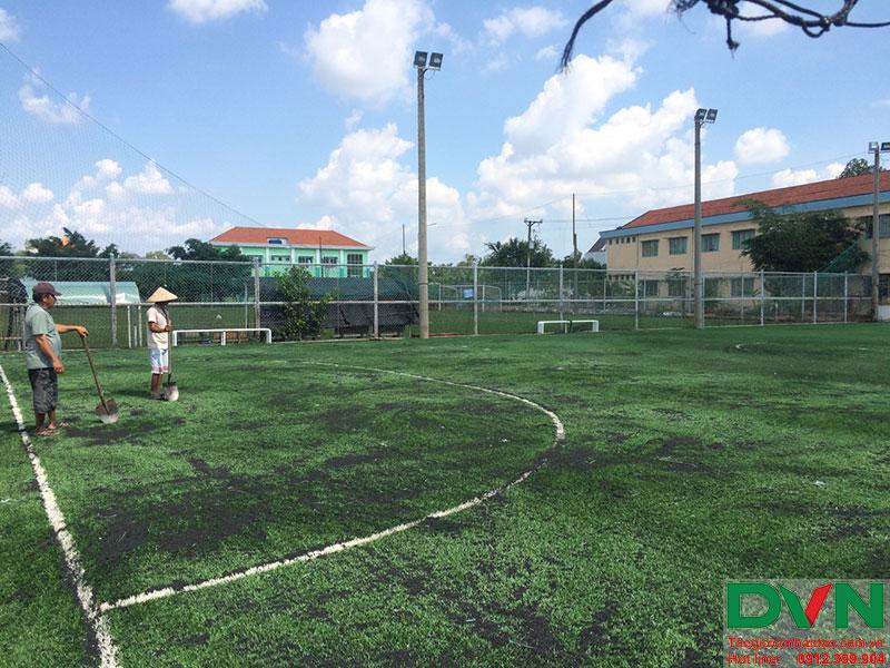 Một số hình ảnh của dự án sân cỏ nhân tạo tại Long An 2