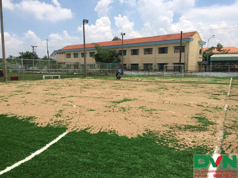 Một số hình ảnh của dự án sân cỏ nhân tạo tại Long An 3