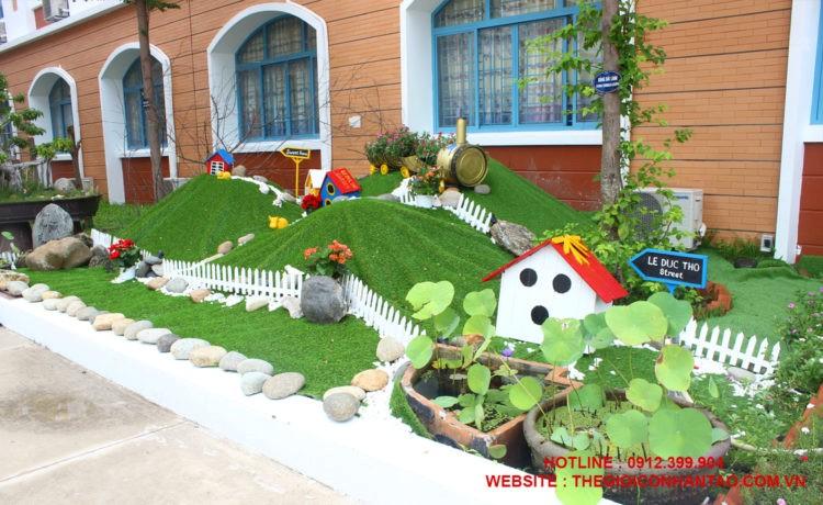 Nội thất đẹp bất ngờ với thảm cỏ nhân tạo trong nhà 3