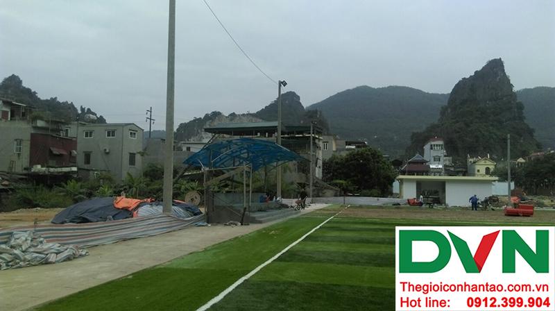 Một số hình ảnh của dự án sân bóng đá cỏ nhân tạo tạiCẩm Thạch, Tp Cẩm Phả, tỉnh Quảng Ninh 7