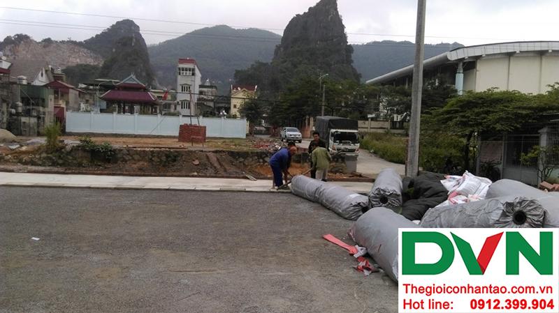 Một số hình ảnh của dự án sân bóng đá cỏ nhân tạo tạiCẩm Thạch, Tp Cẩm Phả, tỉnh Quảng Ninh 2