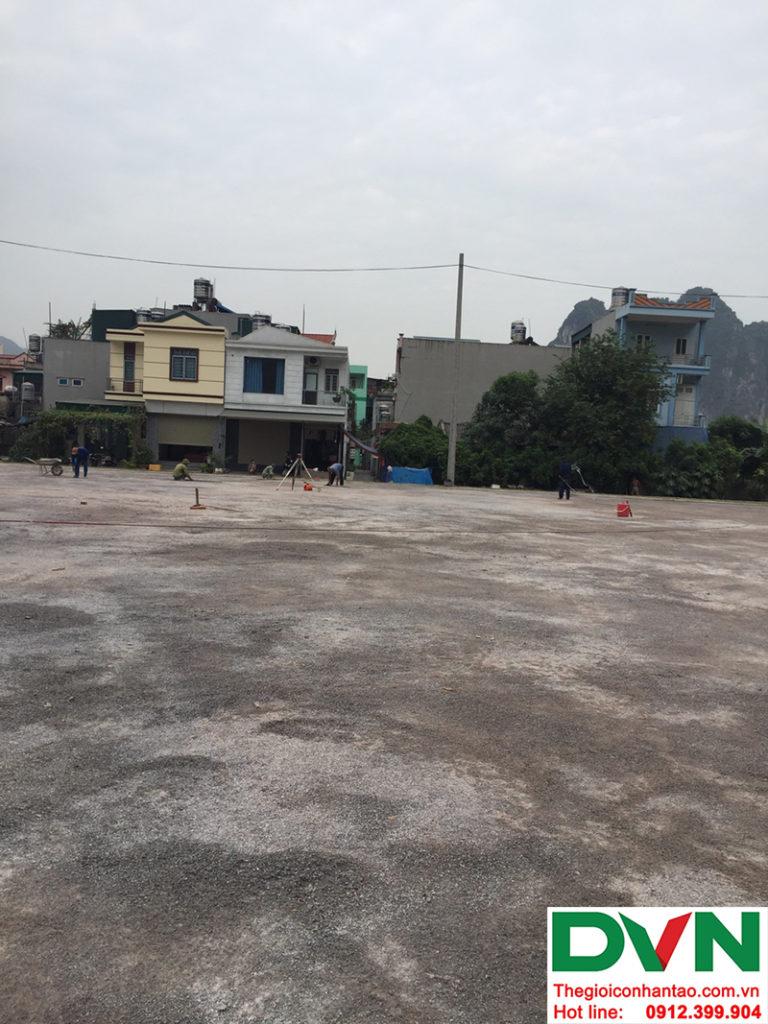 Một số hình ảnh của dự án sân bóng đá cỏ nhân tạo tạiCẩm Thạch, Tp Cẩm Phả, tỉnh Quảng Ninh 1