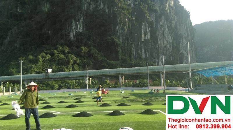 Một số hình ảnh của dự án sân bóng đá cỏ nhân tạo tạiCẩm Thạch, Tp Cẩm Phả, tỉnh Quảng Ninh 6