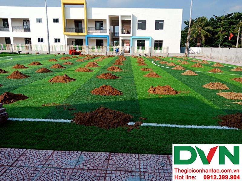 Một số hình ảnh của dự án sân bóng cỏ nhân tạo tại Trường mầm non Hoa Sen, Nghĩa Đàn, Nghệ An 5
