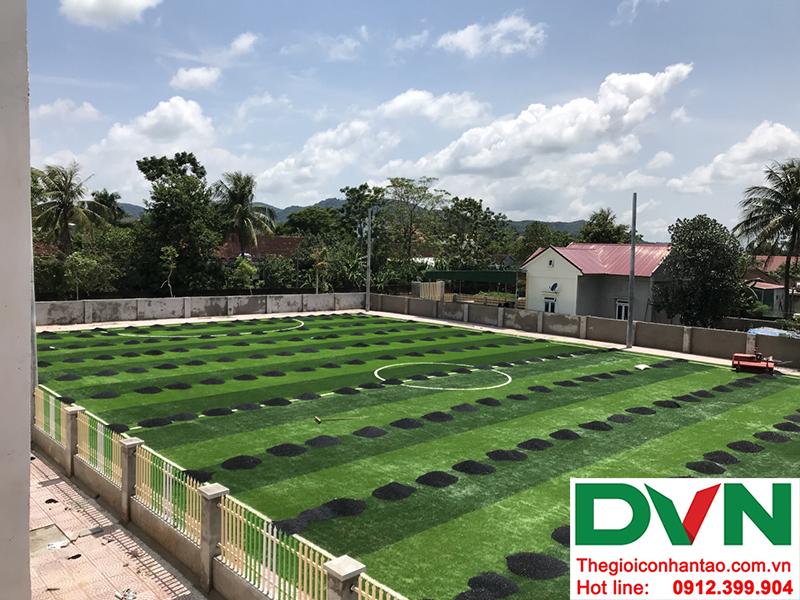 Một số hình ảnh của dự án sân bóng cỏ nhân tạo tại Trường mầm non Hoa Sen, Nghĩa Đàn, Nghệ An 12