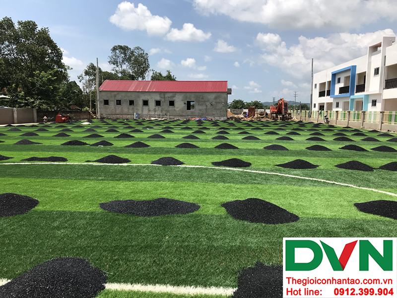 Một số hình ảnh của dự án sân bóng cỏ nhân tạo tại Trường mầm non Hoa Sen, Nghĩa Đàn, Nghệ An 13