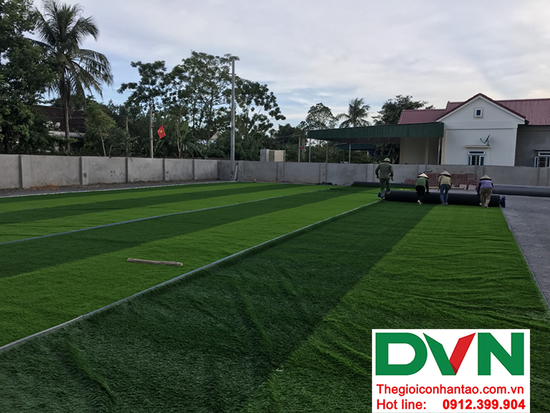 Một số hình ảnh của dự án sân bóng cỏ nhân tạo tại Trường mầm non Hoa Sen, Nghĩa Đàn, Nghệ An 2