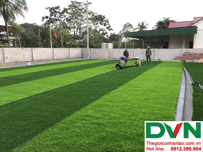 Một số hình ảnh của dự án sân bóng cỏ nhân tạo tại Trường mầm non Hoa Sen, Nghĩa Đàn, Nghệ An 3