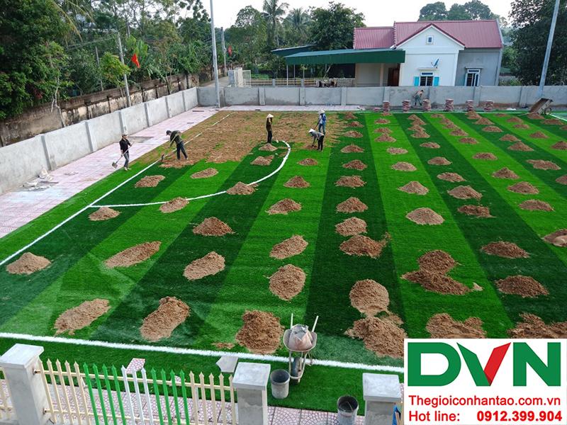 Một số hình ảnh của dự án sân bóng cỏ nhân tạo tại Trường mầm non Hoa Sen, Nghĩa Đàn, Nghệ An 4