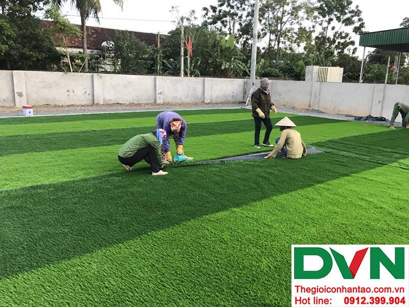 Một số hình ảnh của dự án sân bóng cỏ nhân tạo tại Trường mầm non Hoa Sen, Nghĩa Đàn, Nghệ An 7