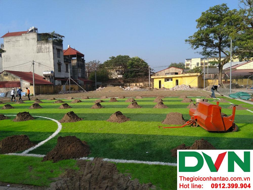 Một số hình ảnh dự án sân bóng cỏ nhân tạo tại Ecopark, Văng Giang, Hưng Yên 3
