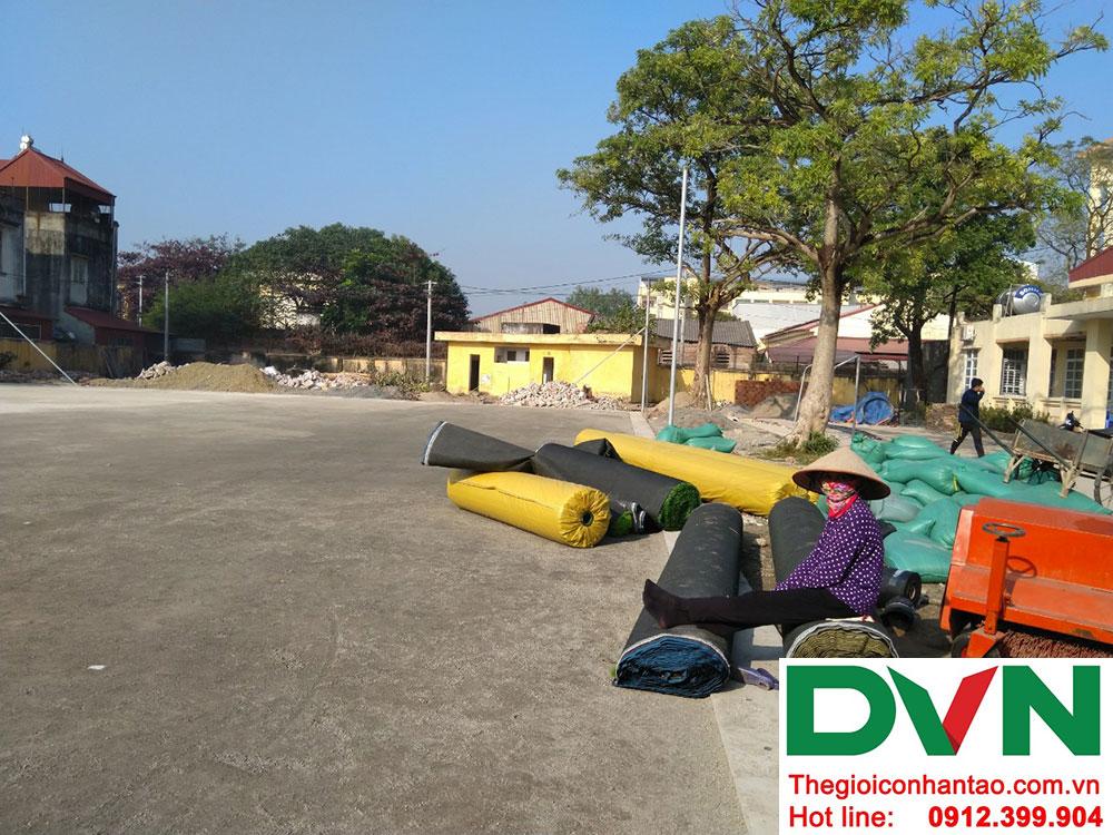 Một số hình ảnh dự án sân bóng cỏ nhân tạo tại Ecopark, Văng Giang, Hưng Yên 1