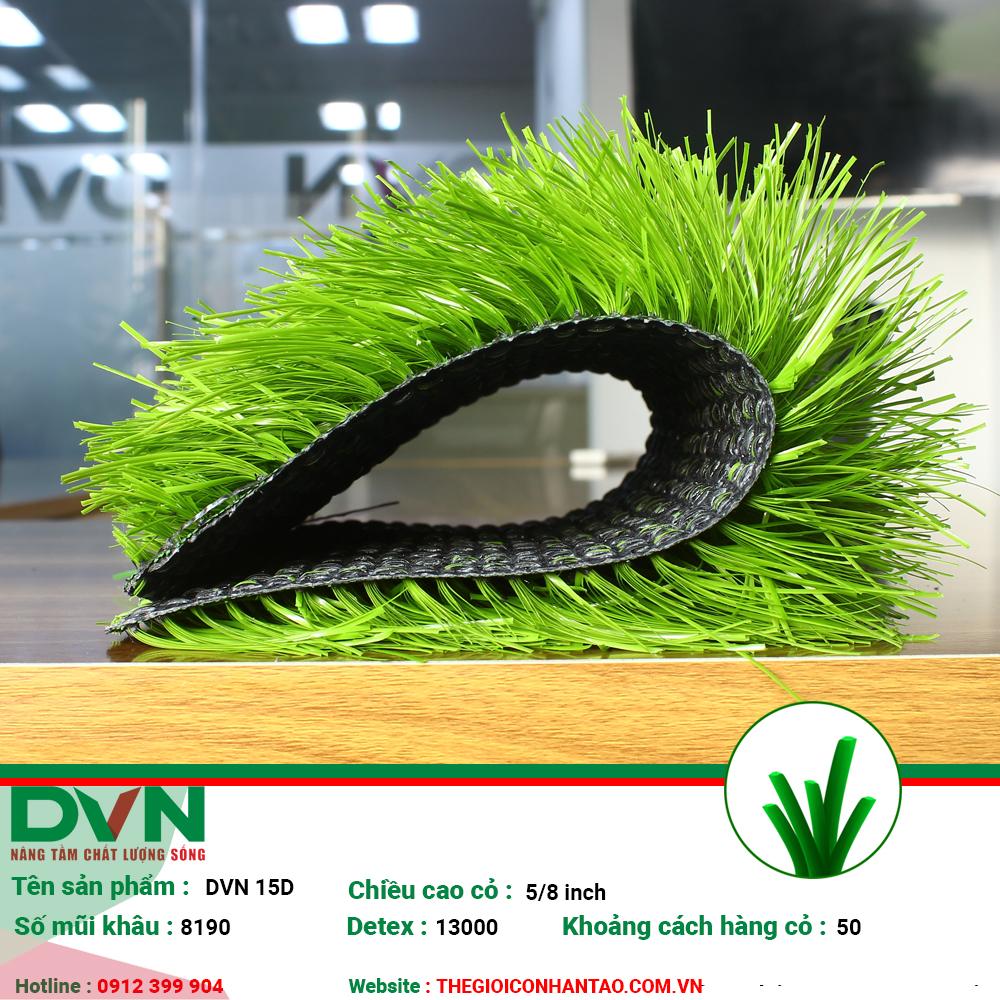 1, Hình ảnh sản phẩm cỏ nhân tạo sân bóng DVN 15D 1